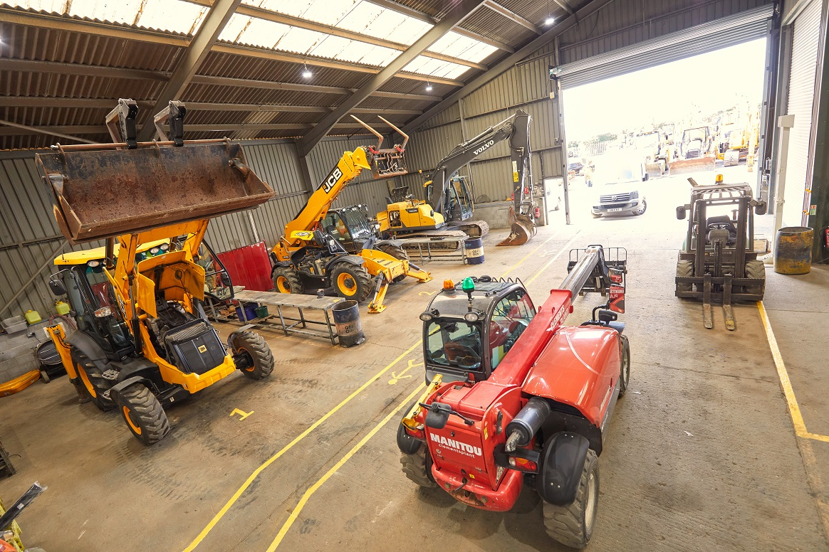 Plant items are serviced in our fully equipped works garage